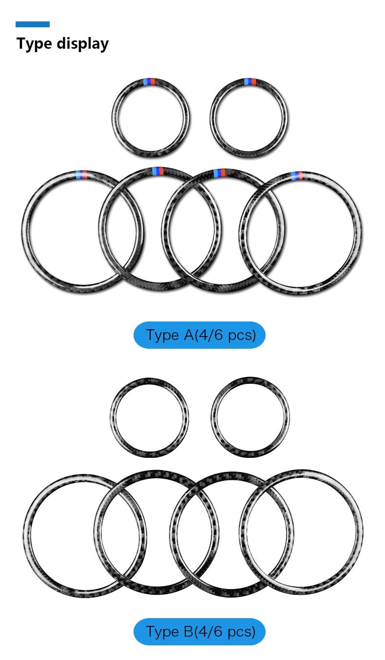 Airspeed for BMW F25 X3 X4 F26 X4 BMW F26 F07 Sticker for BMW X3 F25 Carbon Fiber Interior Trim Stickers Car Door Speaker Ring (2)