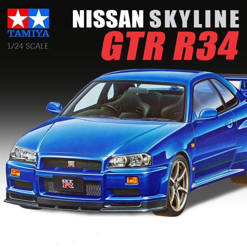 24210 Tamiya Nissan Skyline GT-R V-Spec R34 1//24th Plastique Voiture