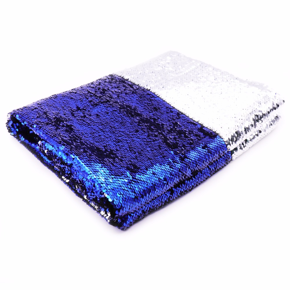 50*130cm Mermaid Sequin Reversible Fabric Fish Scale Sewing fabric Tissue Kids Bedding Home Textile Clothes Bag DIY Decoration