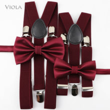 Nice Suspenders Bowtie Sets Mens Women Boys Girls Baby Kids Party Wedding Y-Back Shirt Braces Butterfly Belt Bow Tie Pants Jeans(China)