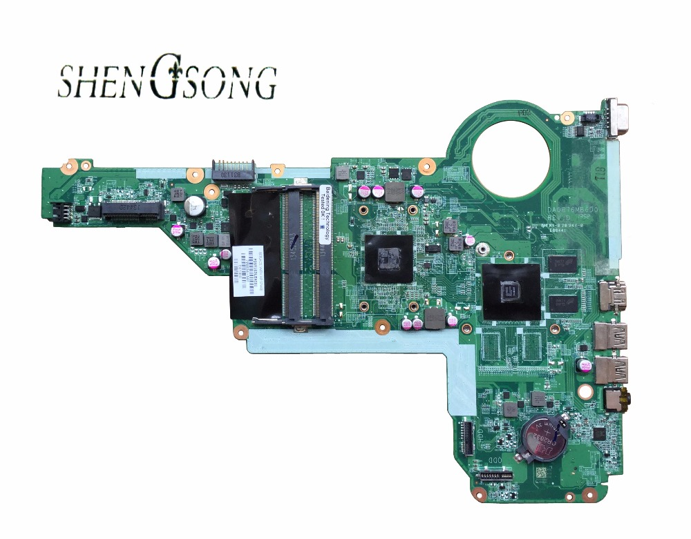 726634-501 Free Shipping FOR HP PAVILION 17Z-E000 17-E 17Z 15-E Laptop motherboard DA0R76MB6D1 REV : D 726634-001 A6-5200M CPU цена