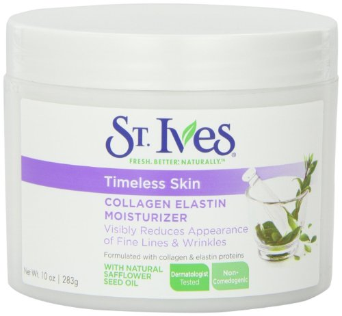 St.  Ives Timeless Skin Facial Moisturizer, Collagen Elastin 10 oz крем увлажняющий aloe vera moisturizer collagen elastin 75 мл