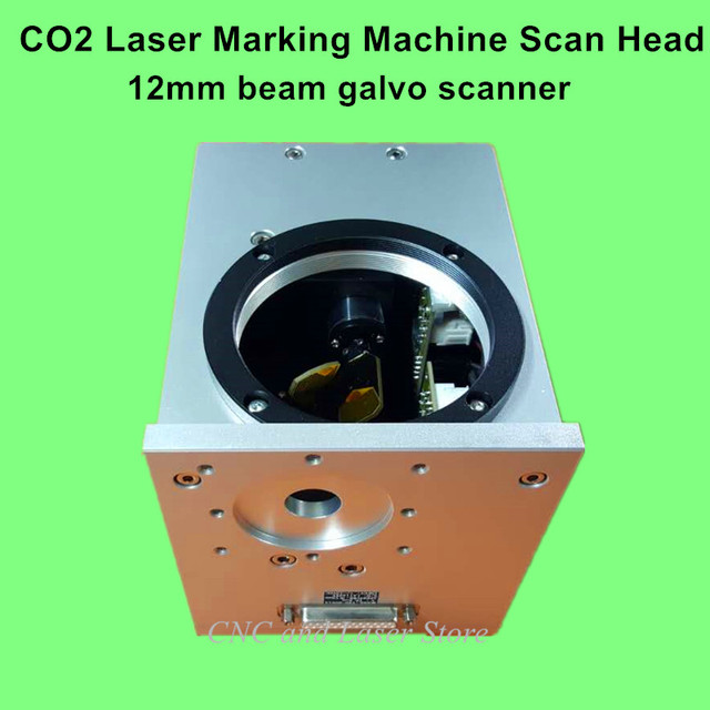 US $650 0 |CO2 Laser Marking Machine Analog Galvo System, Laser marking  machine scan head, 10600nm 12mm Beam Galvanometer Scanner, Galvo-in