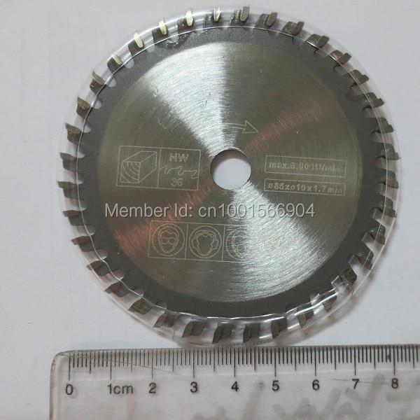 85x36 denti 5 pz / lotto, mini lama di taglio di alluminio elettrica - Lama per sega - Fotografia 2