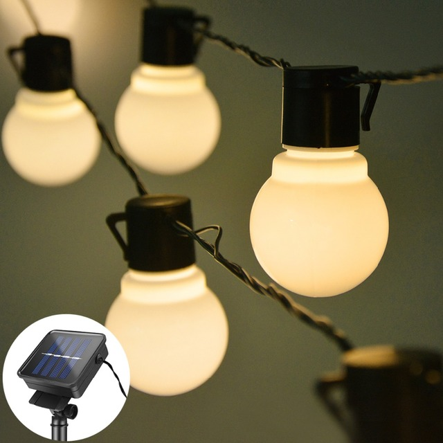 Solar Rechargeable Waterproof LED String Lights