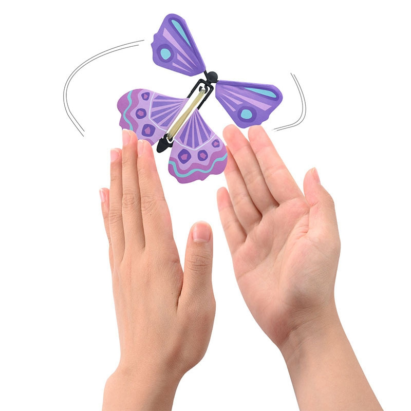 Magic Flying Butterfly Hand Transformation Fly Butterfly Magic Props Funny Surprise Prank Joke Mystical Trick Toys