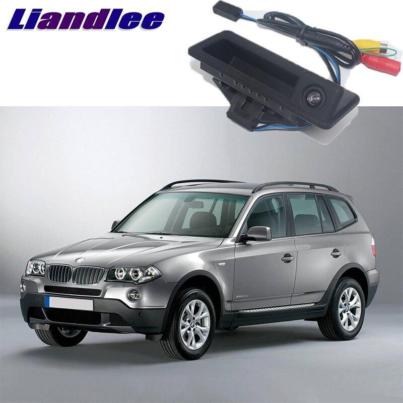 LiandLee voiture coffre poignée vue arrière caméra de recul pour BMW X3 E83 2003 ~ 2010
