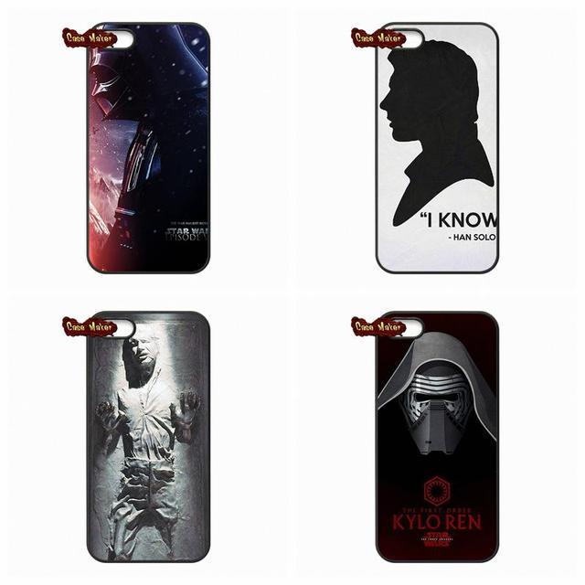 competitive price 2b3bd 6317a US $4.95 |Han Solo Star Wars 7 Phone Cover Case For Xiaomi Mi 3 4 5 Mi3 Mi4  Mi5 4C M4 Redmi Note 2 3 HTC ONE S X Desire 820 816-in Half-wrapped Case ...
