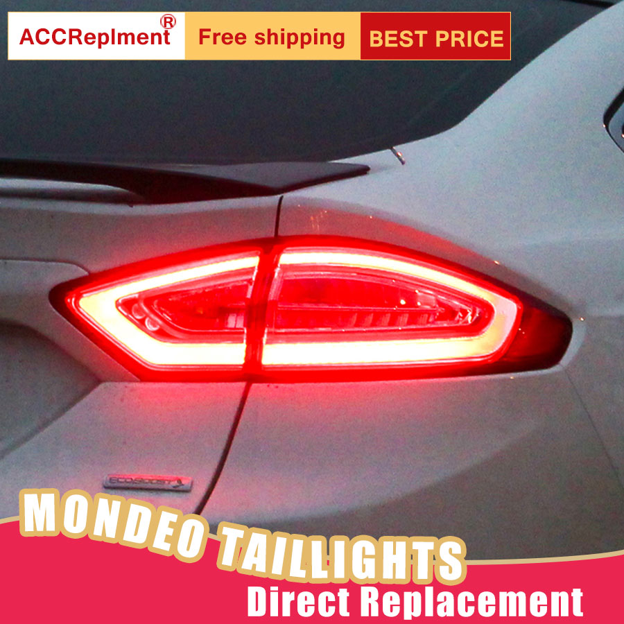 New LED Taillights Assembly For Ford Mondeo 2013-2015 LED Rear Lamp Brake Reverse Light Rear Back Up Lamp DRL Car Tail lights