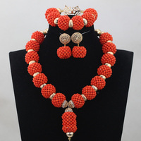 Handmade Women Costume African Jewelry Sets Indian Bridal Crystal Nigerian Wedding Jewelry Gold Free Ship QW900