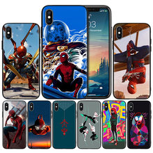 Homem aranha Longe de Casa Macio Anti-knock Tampa Da Caixa Do Silicone para o iphone X XS XR XS 11 11Pro Max 7 8 6 6S 5 5S 5C SE Plus Caso(China)