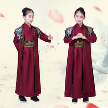 Traditional Ancient Clothing Fairy Chinese Folk Dance Costume Girls Kids Tang Dynasty Hanfu Robe Stage Performance Outfit