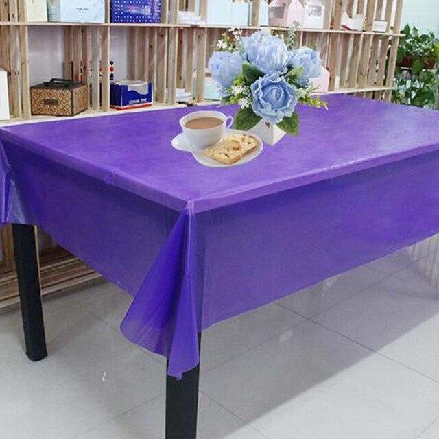 Einfarbig Einwegtischdecke Wasserdichten Rechteck Tischabdeckung