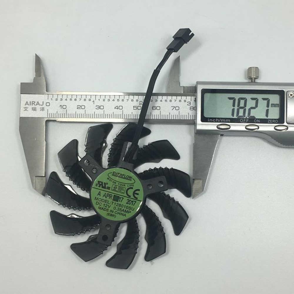 Everflow 78 MM T128010SU PLD08010S12H 12 V Soğutma Fanı Gigabyte GTX1050 1060 1070 1080 G1 N960 N970 Grafik Kartı 4Pin soğutucu Fanlar