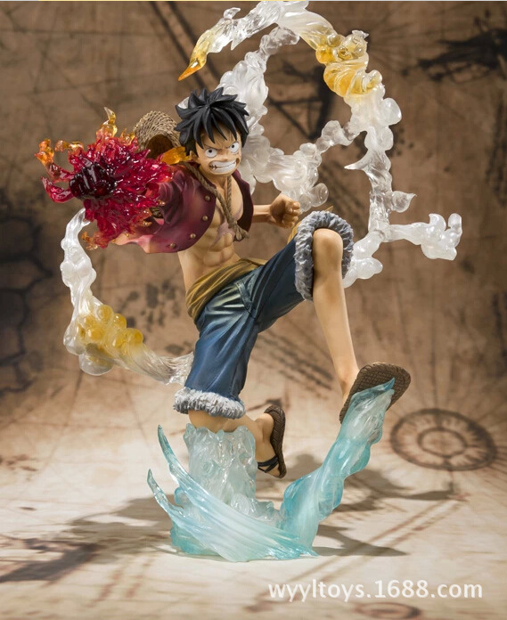 Anime One Piece Monkey D Luffy Action Figure PVC Roronoa Zoro Fighting Figure World Toy Onepiece model free shipping brand new portrait of pirates one piece roronoa zoro 23cm pvc cool cartoon action figure model toy for gift kids free shipping