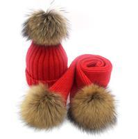 Baby Hat Caps Scarf Set Children Baby Girls Babies Beanie Spring Winter Autumn Warm Knit Kids Children Caps Hat with Scarf