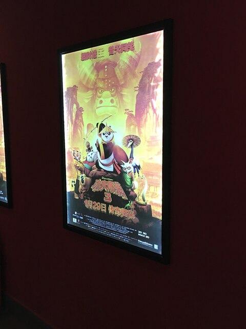 Illuminated Poster Frame,LED Back lit Movie Poster Frame for Home ...