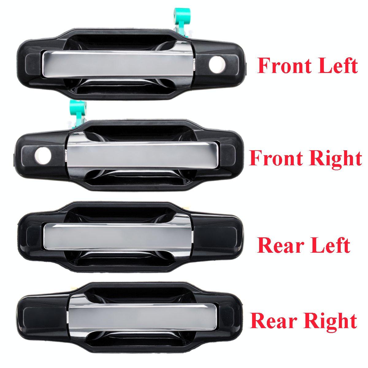 LHD poignée de porte extérieure ABS avant gauche/droite pour Kia Sorento 2003 2004 2005 2006 2007 2008 2009 826503E021 826603E021 836503E01