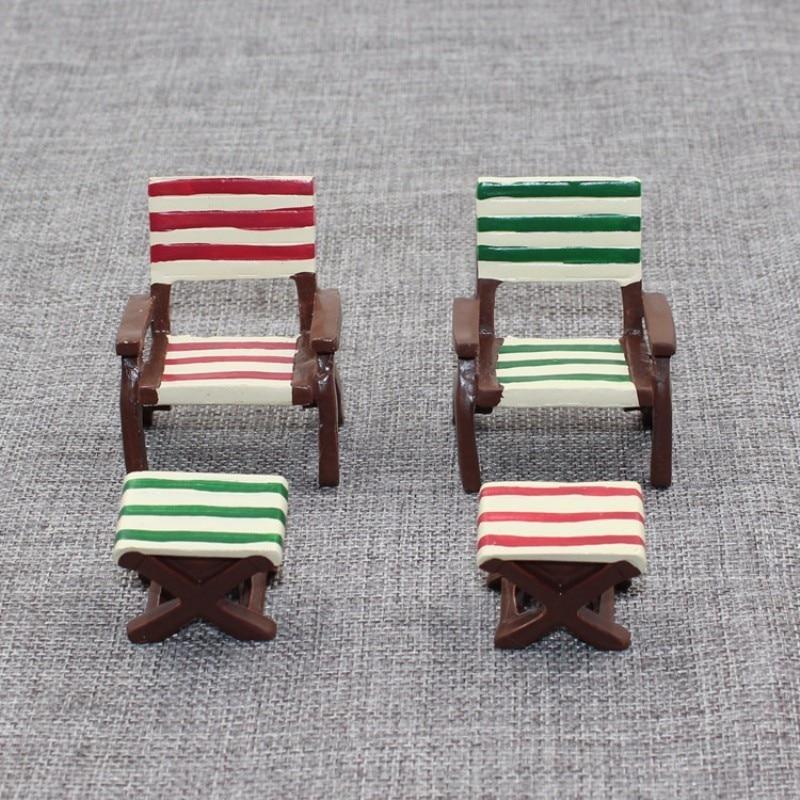 Home 1 Set=2pcs Table Desk Chair Miniature Dollhouse Garden Home Bonsai Decoration Mini Toy Resin Craft Ornaments Micro Decor