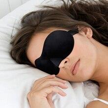 1 unid negro 3D Sleeping Eye Mask Shade Blindfold viaje del sueño ligero cubierta ayuda cómodo parche en el ojo A2