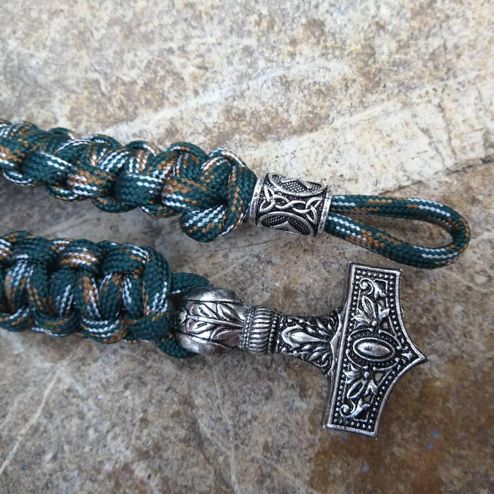 Paracord Bracelet Replaceable Norse Viking Runes Beads Braided Bracelet Men Bracelets Thor Hammer Rope Bangles for Men Jewelry (2)