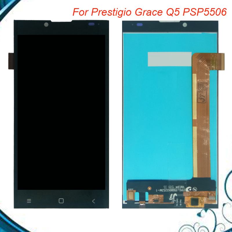Top Quality LCD Display +Touch Screen Replacement LCD Screen For Prestigio Grace Q5 PSP5506 Duo PSP5506Duo PSP 5506 Assembly