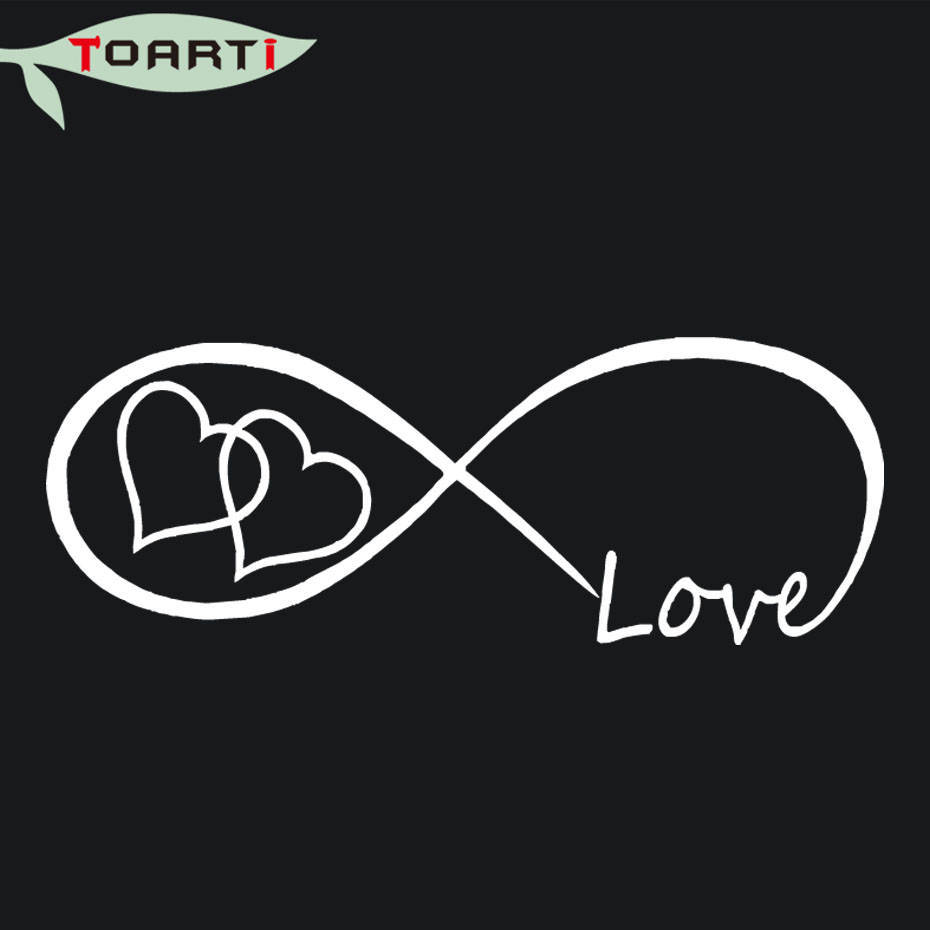 Love heart infinity forever symbol vinyl decal car window bumper love heart infinity forever symbol vinyl decal car window bumper stickers family creative animal pvc removable art decor in car stickers from automobiles buycottarizona Image collections