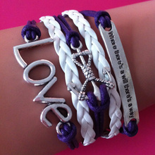 Fashion jewelry anchor love infinity where there is a will there is a way charm wrap link bracelets best friend wrap link bracel