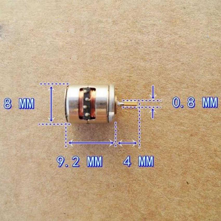1 Pc Dc 2 phases 4 fils Dia 8mm Dc moteur pas à pas Micro moteur pas à pas pour les produits numériques caméra taille 8*9.5mm