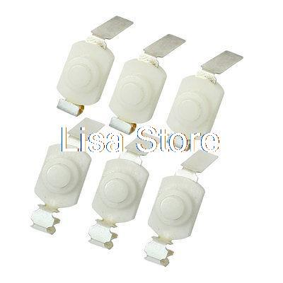 On Off Position Flashlight Torch Push Button Switch White 250VAC 1A