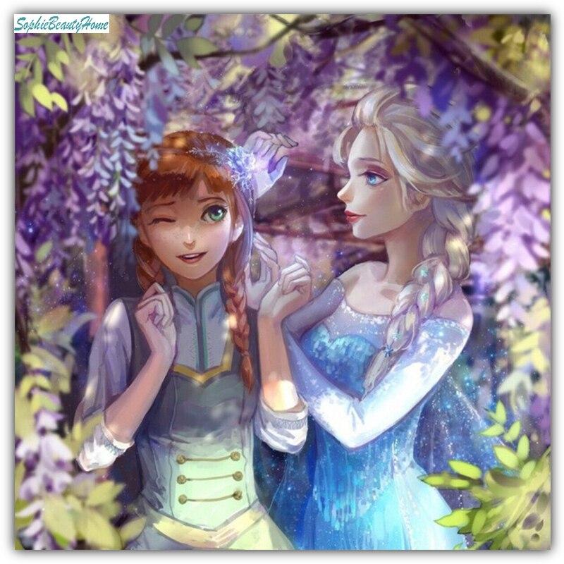 Софи Красота Главная Diy 5D алмаз мультфильм принцессы партнер Смола Вышивка крестом 3D  ...