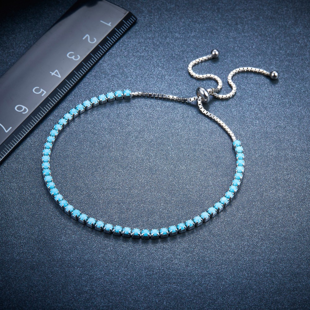 Genuine Turquoise Adjustable Dainty Choker Necklace 925 Sterling Silver 14-17