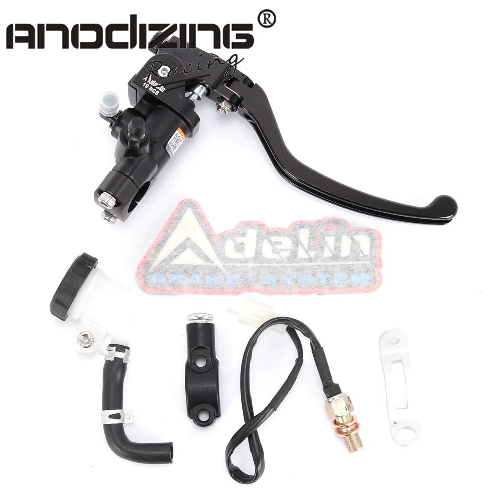 купить Motorcycle Brake Adelin Master Cylinder Hydraulic FOR HONDA R1 R3 R6 FZ6 GSXR600 750 1000 NINJA250 ZX-6R Z750 Z800 MONSTER по цене 3591.86 рублей