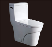 2016 new style water closet one piece S trap ceramic toilets with PVC adaptor UF soft