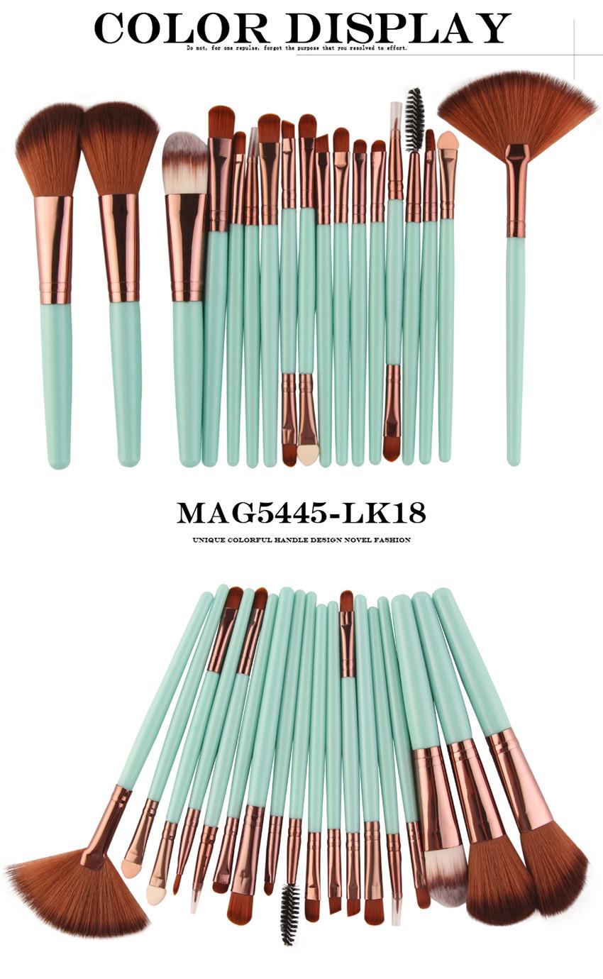 18Pcs/lot Brand Brushes Makeup Brush Set maquiagem Cosmetics Power Foundation Blush Eye Shadow Blending Fan Make Up Kits Beauty 8