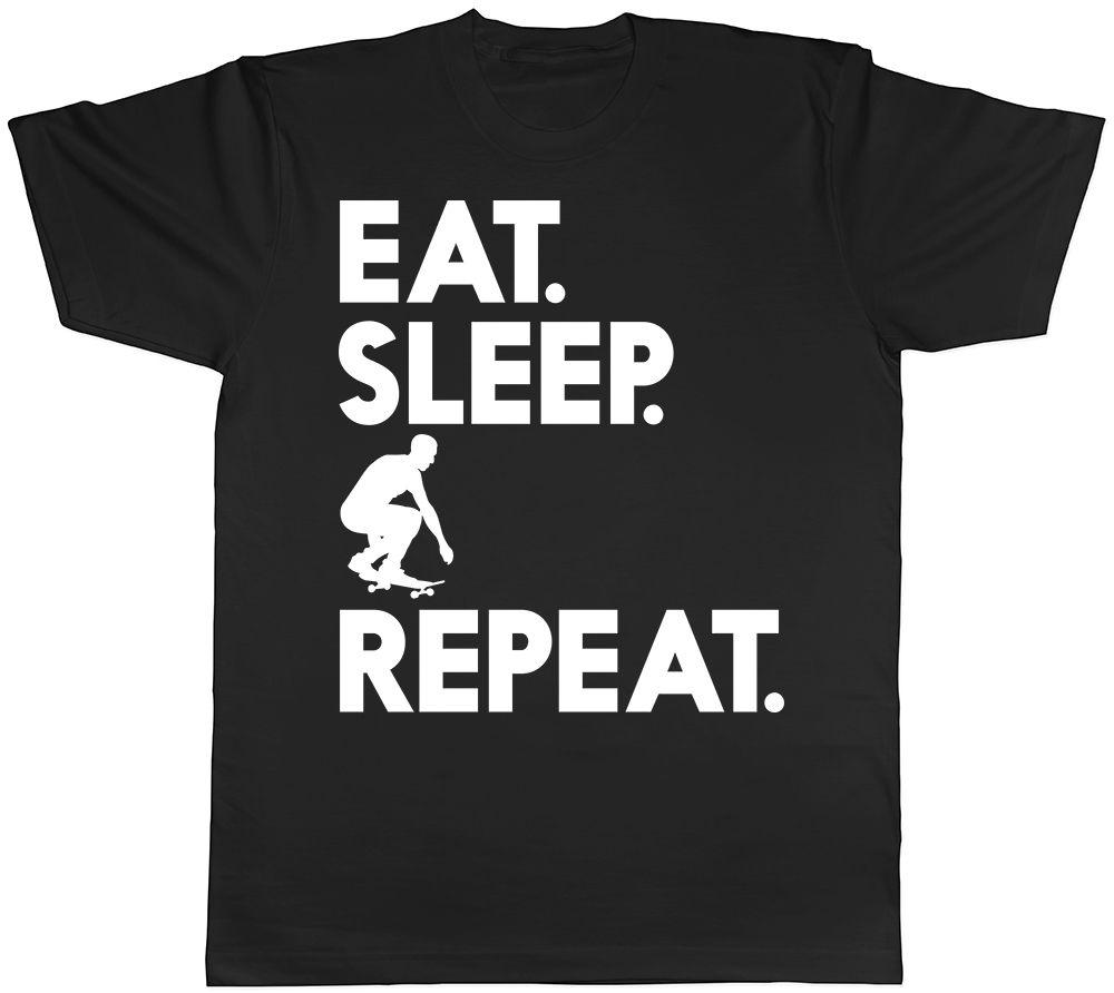 Eat Sleep Skateboard Repeat Mens Tee T-Shirt