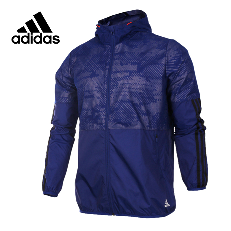 Adidas Original New Arrival Official NEO Men's Windproof Tatting Jacket Hooded Sportswear BR0157 adidas new arrival official ess 3s crew men s jacket breathable pullover sportswear bq9645
