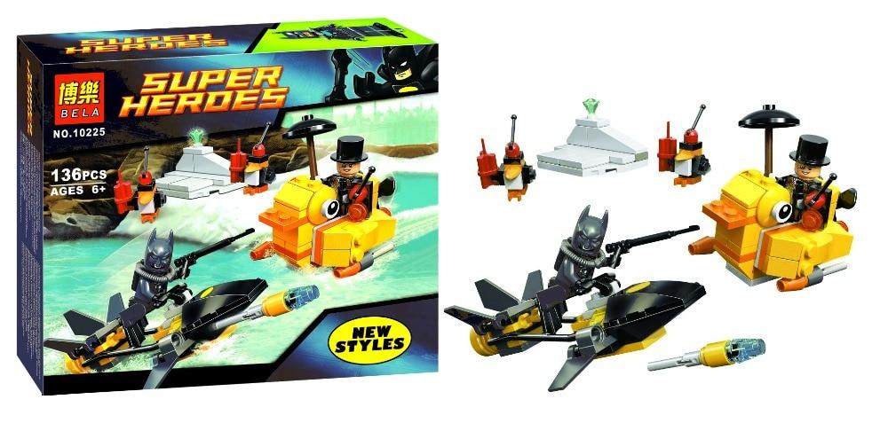 Bela 10225 Super Heroes Series Batman Penguin Minifigures Building font b Block b font Minifigure Toys