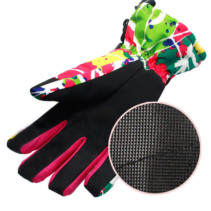 Waterproof Cold Weather Ski Snowboard Gloves for Women Fashion Camo Snow Proof with Wrist Leash Men Winter Cycling Non Slip in Skiing Gloves from Sports Entertainment