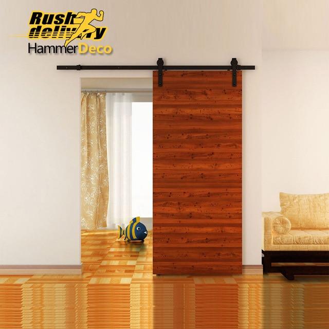 8ft noir pays grange bois acier porte coulissante simple mat riel placard ensemble am ricain. Black Bedroom Furniture Sets. Home Design Ideas
