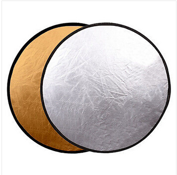 Trackable Shiping 32 2 in 1 Light Mulit Collapsible Gold / Silver Photography Reflector 80cm Photo accessories for flash light