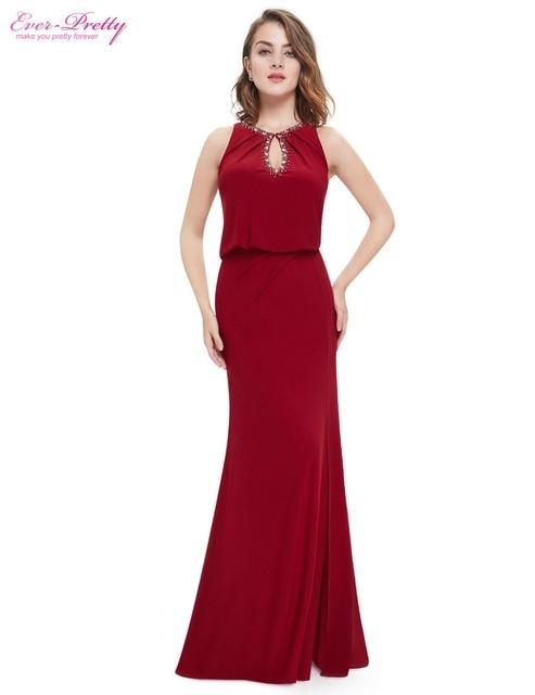 Ever-Pretty EP08383 2018 New Arrival Elegant Keyhole Neckline Blue Long Sexy  Cheap Formal Evening Prom Dress 6676fe71a252