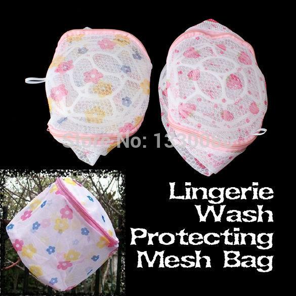 Women Hosiery Bra Lingerie Washing Bag Bra Protecting Mesh Bag Aid Laundry Saver E5M1