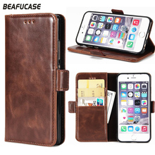 Phone Case For Funda iPhone 6s Leather Wallet Card Slot Holder + Silicone Back Cover Apple 6 Flip Stand