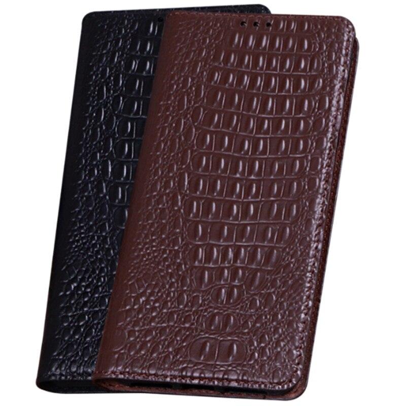 HY01 Luxury Genuine Leather Magnet Flip Coque Case For Xiaomi Redmi Note 5 Pro(5.99') Case For Redmi Note 5 Pro Phone Case