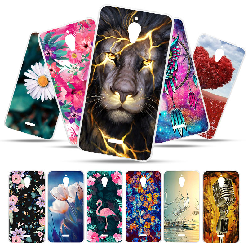 Bolomboy Painted Case For Alcatel A2 XL Case Silicone Soft TPU Cases For Alcatel A2 XL 8050D Cover Wildflowers Cute Animal Bags
