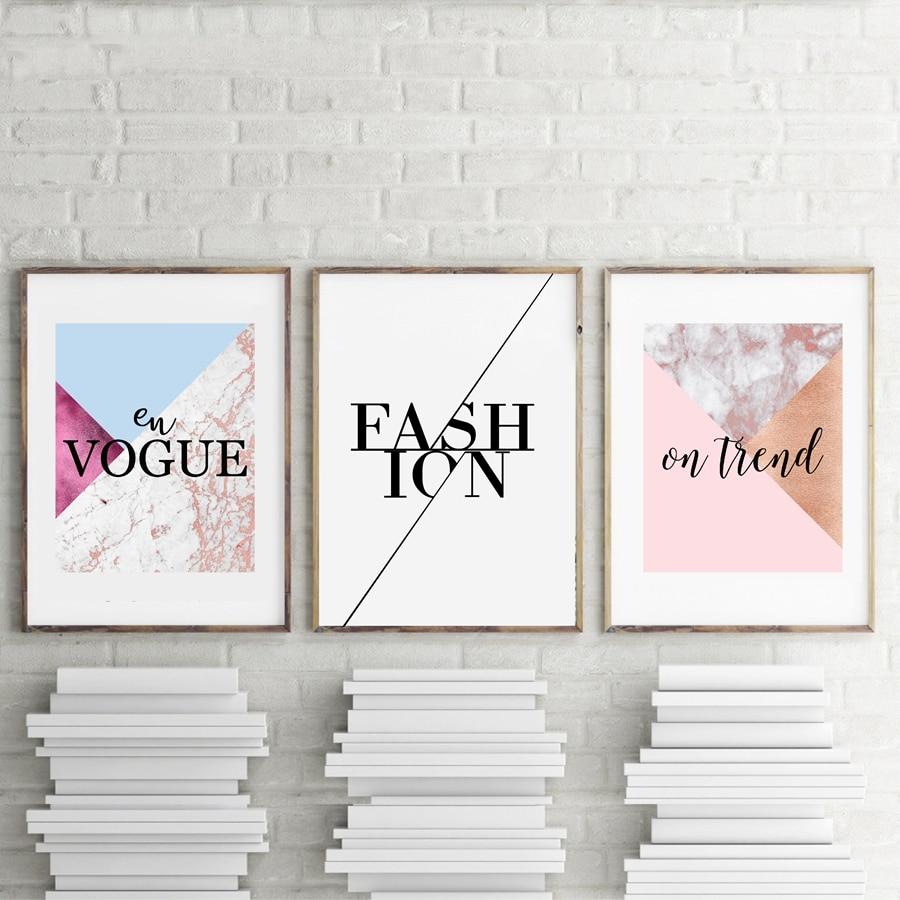 Fashion Design Wall Art Canvas Prints Girls Room Decor ...
