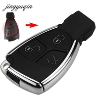 Jingyuqin Gewijzigd 3 Knoppen Afstandsbediening Sleutelhanger Case Cover Voor Mercedes Benz B C E ML S CLK CL Chrome stijl