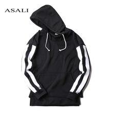 93382446118 ASALI хип-хоп Уличная одежда брендовая одежда осень зима мужская толстовка  хлопок флис мужской пуловер