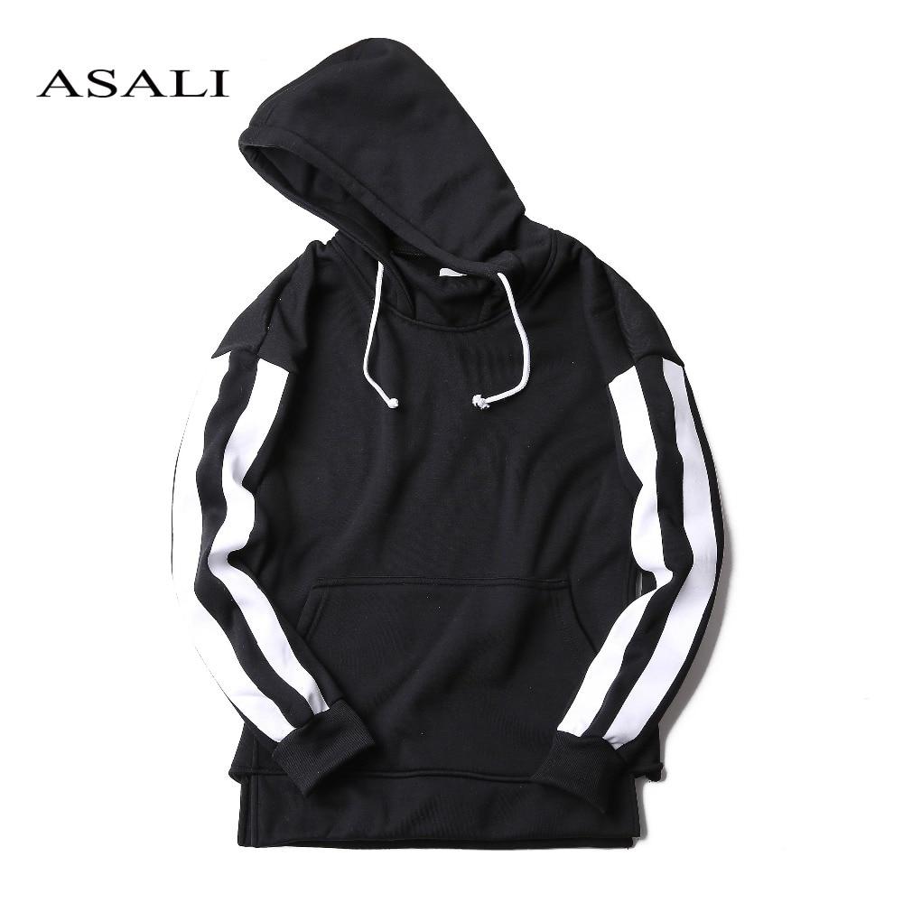 ASALI Hip Hop Street wear Marque Vêtements Automne Hiver Hommes à capuche Coton Polaire Mâle Pull Survêtement Hommes Ras Du Cou Sweat
